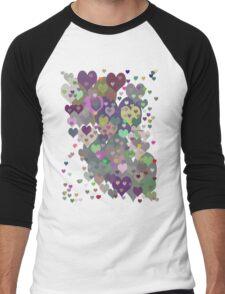 Too Many Hearts T-Shirt Men's Baseball ¾ T-Shirt