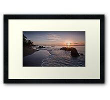 Summer sunrise Framed Print