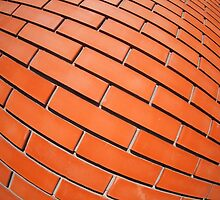 New red brick wall with distortion lens by vladromensky