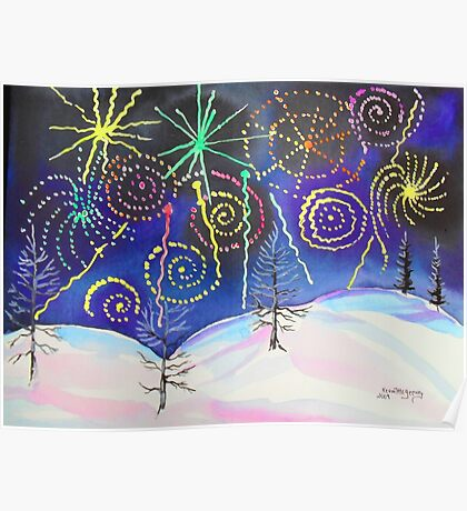 Fireworks on New Years Eve..... Poster