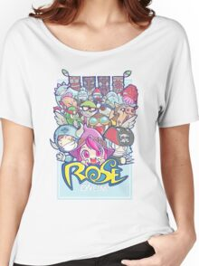 [ROSE] Heroes and Monsters Women's Relaxed Fit T-Shirt