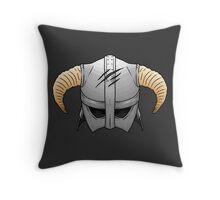 Skyrim Helmet Throw Pillow
