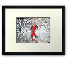 Lovely high heel shoe keyring Framed Print
