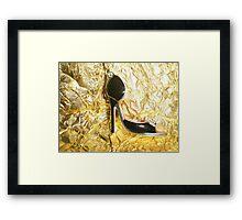 Lovely high heel shoe Framed Print