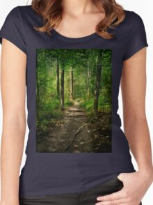 The Hidden Trails of the Old Forests Women's Fitted Scoop T-Shirt