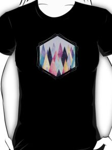 Colorful Abstract Geometric Triangle Peak Wood's  T-Shirt