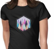 Colorful Abstract Geometric Triangle Peak Wood's  Womens Fitted T-Shirt