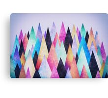Colorful Abstract Geometric Triangle Peak Wood's  Canvas Print