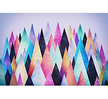 Colorful Abstract Geometric Triangle Peak Wood's  Photographic Print
