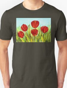 Red Tulips Unisex T-Shirt