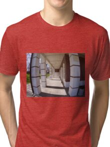 The facade of the city building Tri-blend T-Shirt