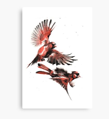 Cardinals Pew Pew Pewing... Canvas Print