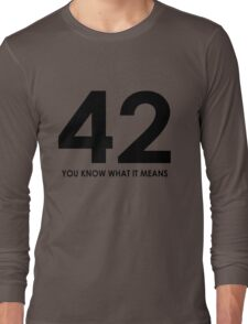 The meaning of life, the universe and everything Long Sleeve T-Shirt