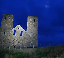 Reculver Towers in Moonlight by Monkeyman