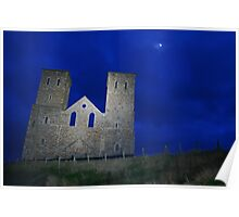 Reculver Towers in Moonlight Poster