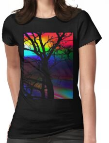 The Rainbow Tree T-Shirt Womens Fitted T-Shirt