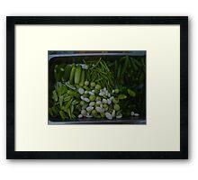 Steamed Thai Vegetables Framed Print