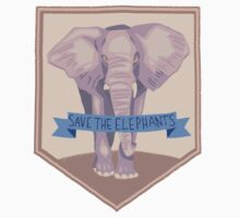 SAVE THE ELEPHANTS PATCH by The Happy Campers