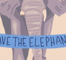 SAVE THE ELEPHANTS PATCH Sticker