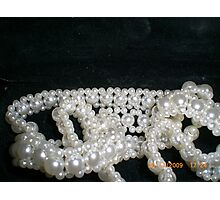 Lovely Pearls Photographic Print
