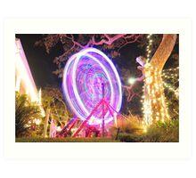 Xmas Ferris Wheel before Art Print