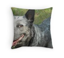 Australian Blue Heeler Portrait Throw Pillow
