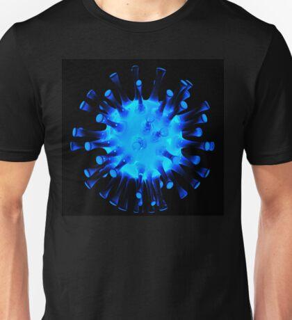 Blue glossy glass sculpture Unisex T-Shirt
