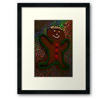 Gingerbread Man Framed Print
