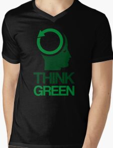 Think Green Mens V-Neck T-Shirt