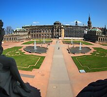 Dresden, Zwinger wide angle view by vladromensky