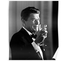 President Reagan Making A Toast Poster
