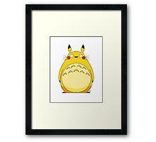 Totoro Pikachu Framed Print