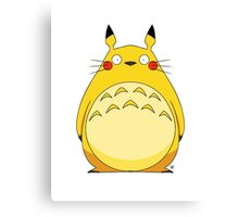 Totoro Pikachu Canvas Print