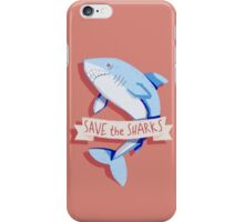 SAVE THE SHARKS iPhone Case/Skin