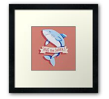 SAVE THE SHARKS Framed Print