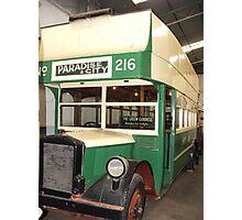 The Green Goddess - Bus 216 Photographic Print