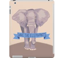 SAVE THE ELEPHANTS iPad Case/Skin