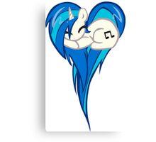 Vinyl Scratch DJ Pon3 Heart Canvas Print