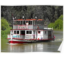 'Pyap' Paddle Steamer Poster