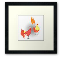 Torchic Evolution Framed Print