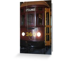 Tram 360 Greeting Card