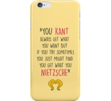 Hedwig, Kant & Nietzsche iPhone Case/Skin