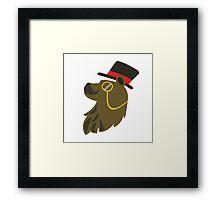 Gentleman Bear Bust Framed Print