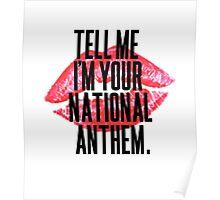 National Anthem Lips Poster