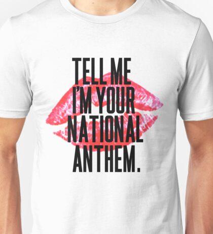 National Anthem Lips Unisex T-Shirt