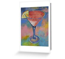 Marilyn Monroe Martini Greeting Card