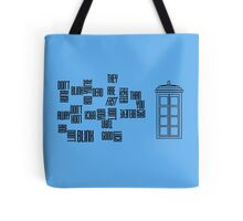 Don't Blink - Twisted Type Tote Bag