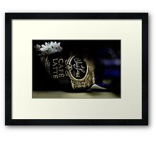 The Last Latte Framed Print