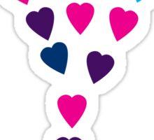 Floating Hearts Sticker