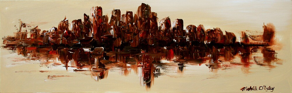 The Dark City on the Water by Abstract D'Oyley